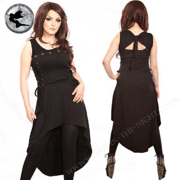 Poizen Industries Gothic Black Tonic Dress - XXL